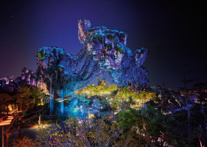 la montagne suspendue de PANDORA – THE WORLD OF AVATAR DE NUIT,  la montagne suspendue