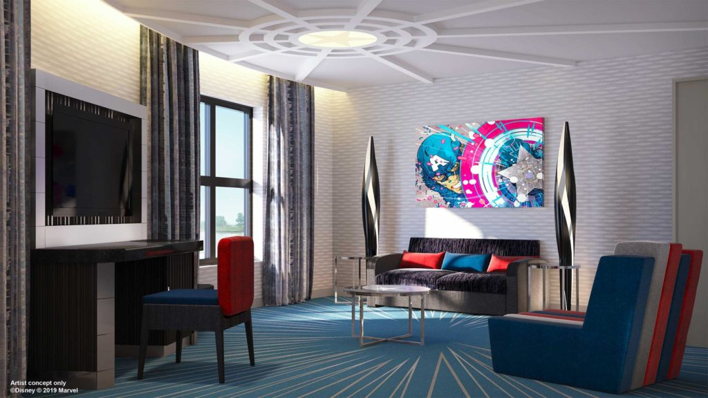 a lounge for new suites