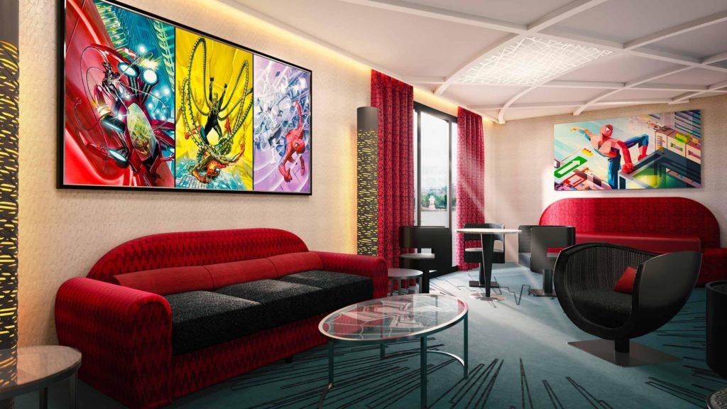 un salon des nouvelles suites