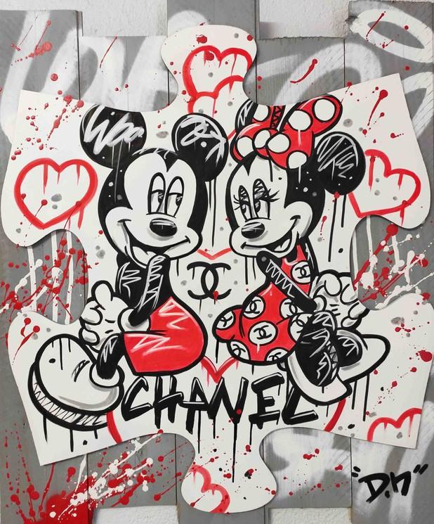 Peinture de Mickey et Minnie